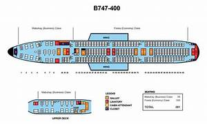 Atlantic 747 Seating Chart Philippine Airlines Boeing 747 400 391 Seats Aircraft