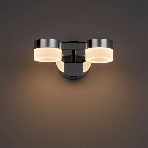 meroo clear chrome effect led bathroom wall light departments diy at b q