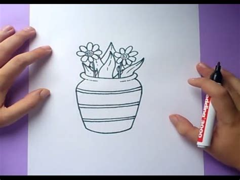 como dibujar un jarron con flores paso a paso how to draw one vase with flowers youtube