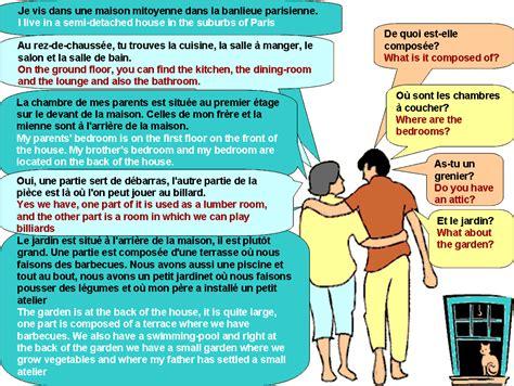 description d une chambre en anglais dialogue décrire la maison