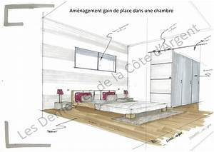 Chambre Gain De Place : conseils et id es agencement de votre future maison constructions demeures c te argent ~ Farleysfitness.com Idées de Décoration