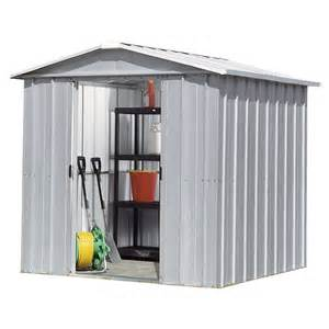 8x6 yardmaster silver metal shed with floor support kit