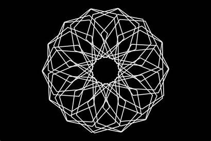 Motion Graphics Gifs Symmetry Rotation Geometric Mandala