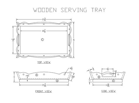 wood serving tray plans  woodworking