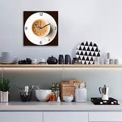 Wanduhr Aus Glas : wanduhr aus glas f r die k che it 39 s coffee time kaffeetasse braun 30x30 cm von eurographics ~ Buech-reservation.com Haus und Dekorationen