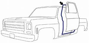 1973 87 fullsize chevy gmc truck door seal on cab pair With 1987 chevy crew cab