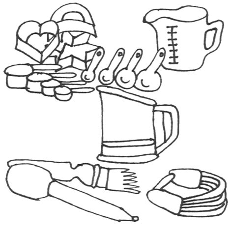 kitchen utensils coloring pages food kitchen utensils