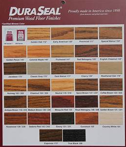DuraSeal Stain Chart — Leese Flooring Supplies, Inc