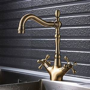 Traditional Kitchen Sink Taps Basin Mixer Tap Bronze Twin