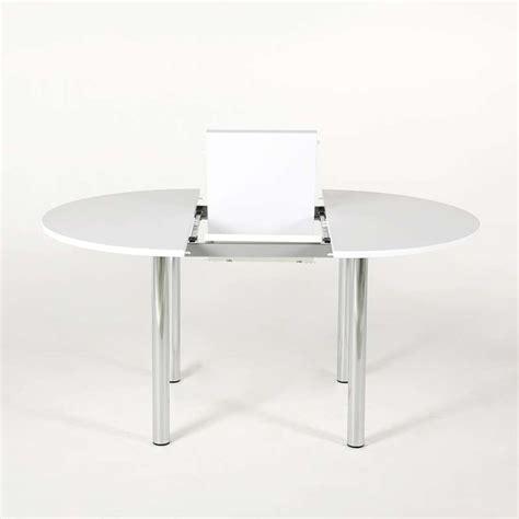 tables de cuisine rondes table de cuisine ronde extensible en stratifié lustra