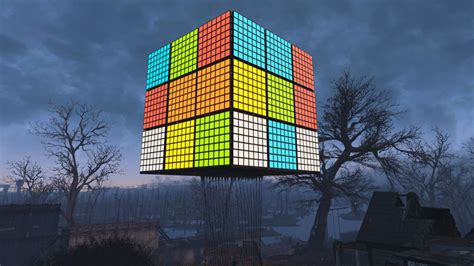 amazing fallout  build giant working rubiks cube vg