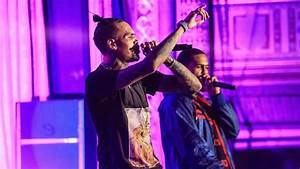"""Chris Brown performing """"Perfect"""" with Dave East (Tidal Pop ..."""