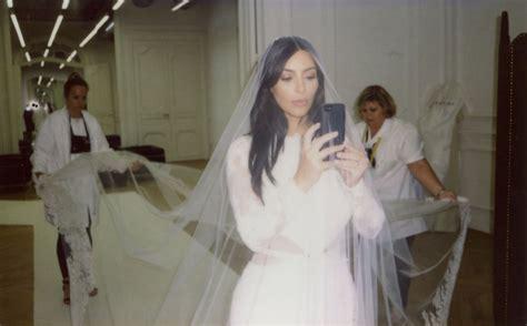 Kim Kardashian West Shares Wedding Dress Fitting Photos