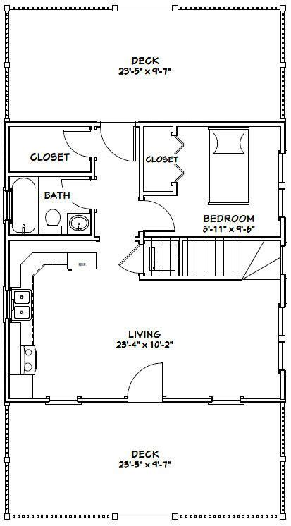 24x24 House #24X24H1B 1 660 sq ft Excellent Floor