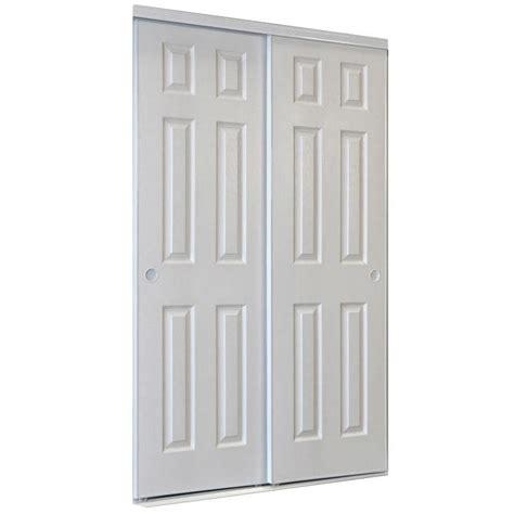 shop reliabilt white  panel sliding closet interior door