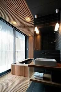 Meuble Salle De Bain Noir Et Bois : mille id es d am nagement salle de bain en photos ~ Teatrodelosmanantiales.com Idées de Décoration