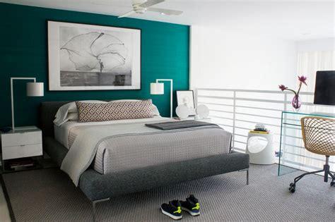 chambre turquoise et noir bleu turquoise et gris en 30 idées de peinture et décoration