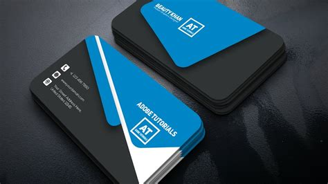 tutorial corporate business card design adobe