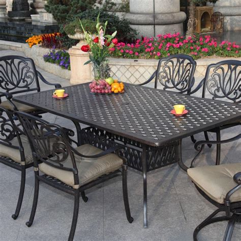 darlee elisabeth 7 cast aluminum patio dining set