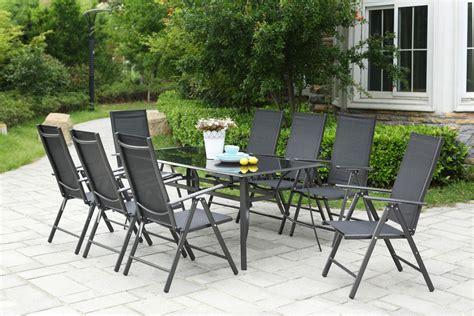 table chaises jardin table de jardin 10 personnes 8 chaises en aluminium