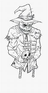 Batman Coloring Scarecrow Drawing Spooky Dark Clipart Clipartkey sketch template