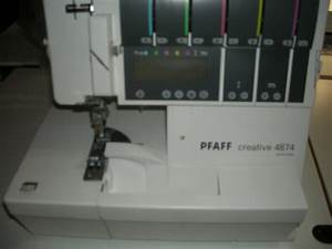 Pfaff Serger 4874 Sewing Machine Serger Used With Accessories