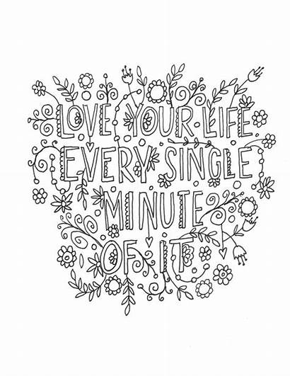 Coloring Pages Quote Adults Teens Quotes Adult