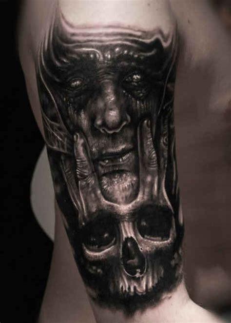 3d Demon Tattoo Skull Httptattootodesigncom3ddemon