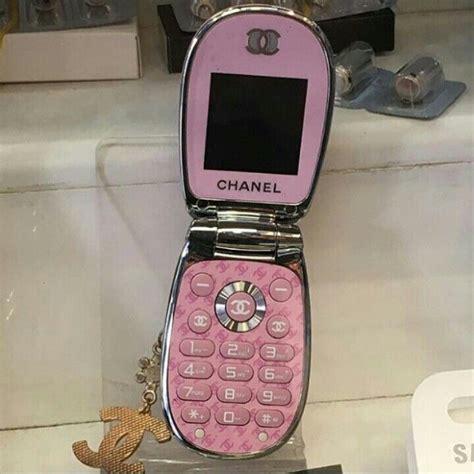 pink chanel flip phone  galore   pink