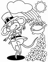 Leprechaun Pages Coloring Popular sketch template
