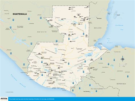 Printable Travel Maps of Guatemala | Moon Travel Guides