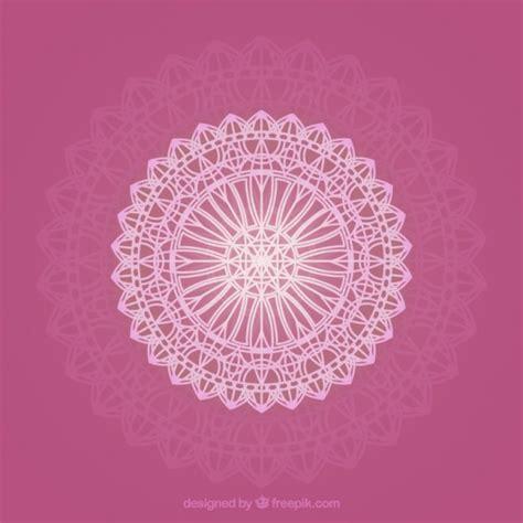 mandala ornamental sobre un fondo de color rosa descargar vectores gratis