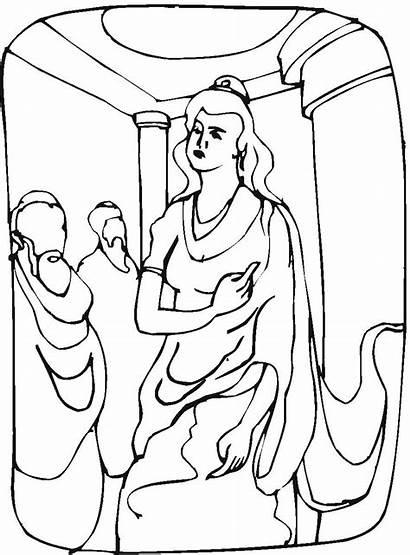 Colorear Dibujos Ester Reina Biblicos Dibujo Imagenes