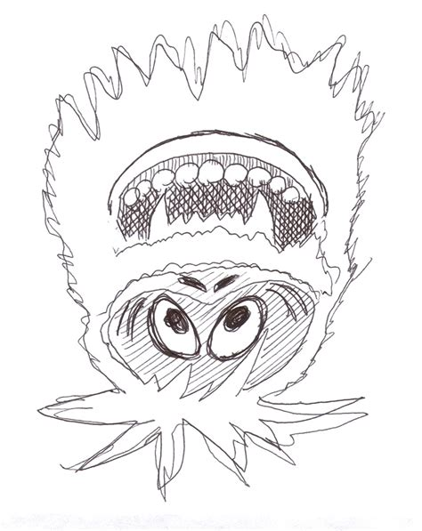 how to draw the rudolph abominable snowman abominable snowman coloring pages getcoloringpages