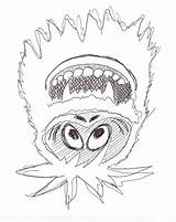 Snowman Abominable Coloring Pages Rudolph Drawing Christmas Bumble Monster Monsters Yeti Snow Printable Ten Getcoloringpages Clipartmag Getdrawings sketch template