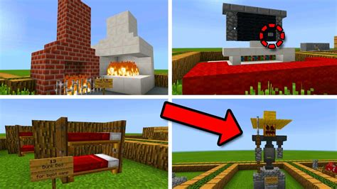 Decorating Ideas For New Builds by 50 Amazing Decoration Ideas In Minecraft Pocket Edition
