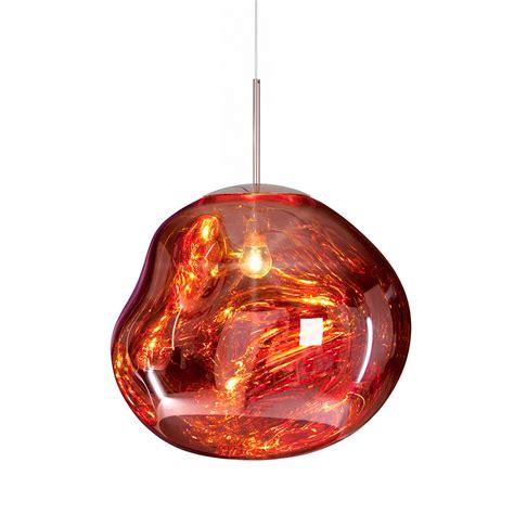 buy tom dixon melt copper pendant light big amara
