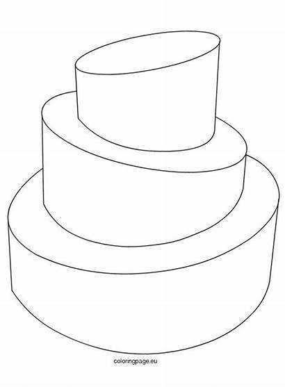 Cake Coloring Template Pages Templates Birthday Printable