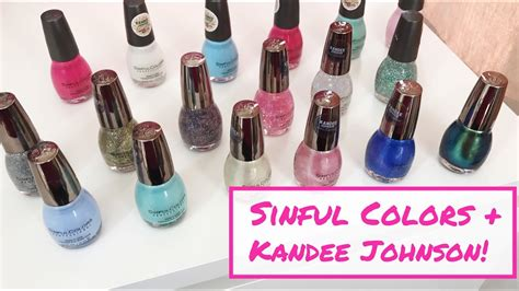 Review + Demo + Nail Swatches! Sinful Colors + Kandee