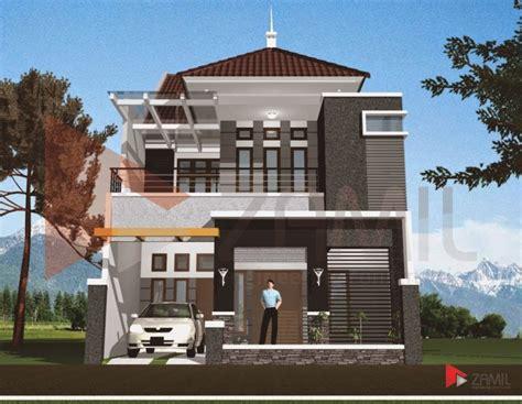 desain rumah mewah minimalis  lantai