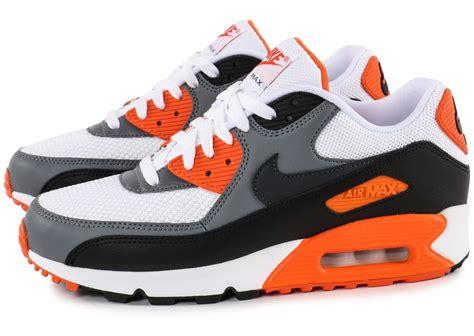 air max blanc nike air max 90 essential blanc orange chaussures homme chausport
