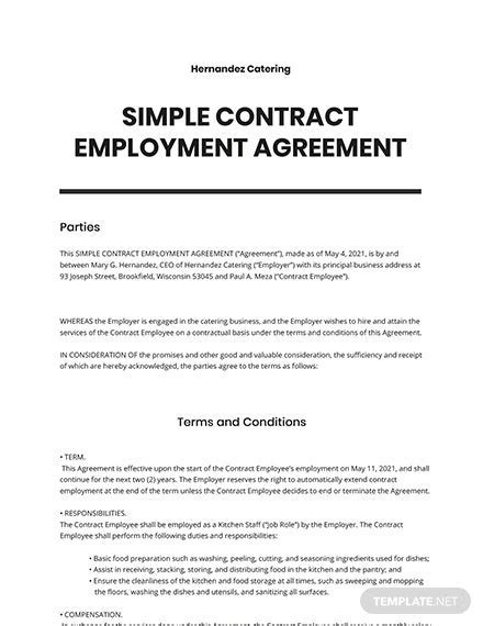 FREE Contract Agreement Templates - Word | Google Docs | Apple (MAC) Pages | Template.net