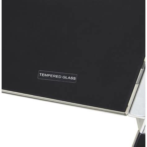 bureau d angle en verre noir bureau d 39 angle en verre quot lize quot noir