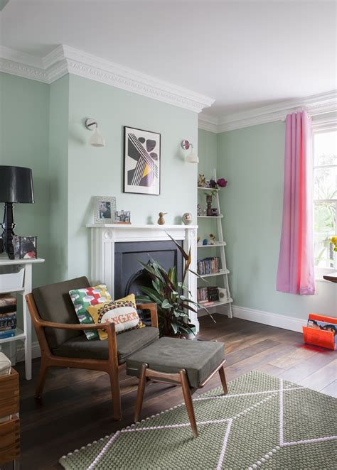 fresh  pastel style  living room  mint hues