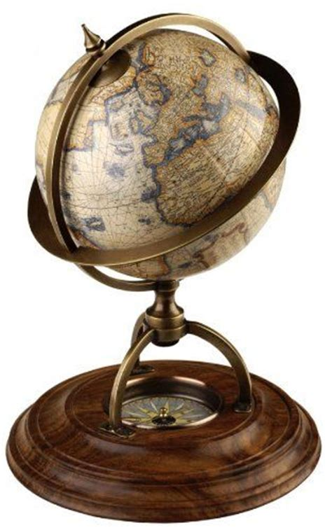 propassione globe terrestre fa 231 on antique pied acajou