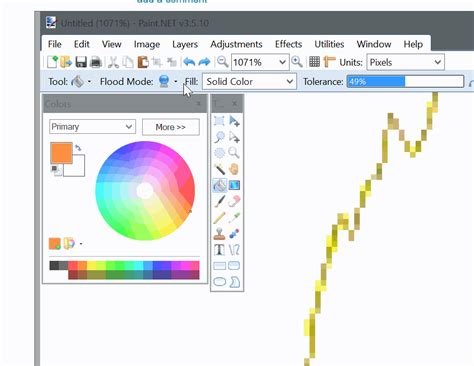 100 paint net how to get the color picker paint net