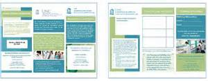 3 column brochure core facilities marketing templates core facilities