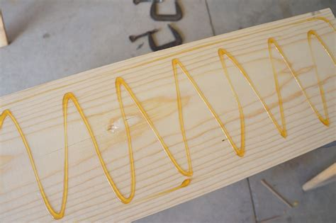 how to laminate boards together re purposed laminate flooring coat hanger by diy inspired