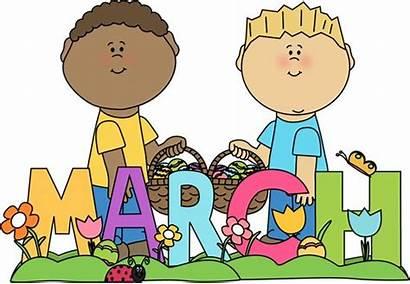 March Month Easter Clip Clipart Calendar Third