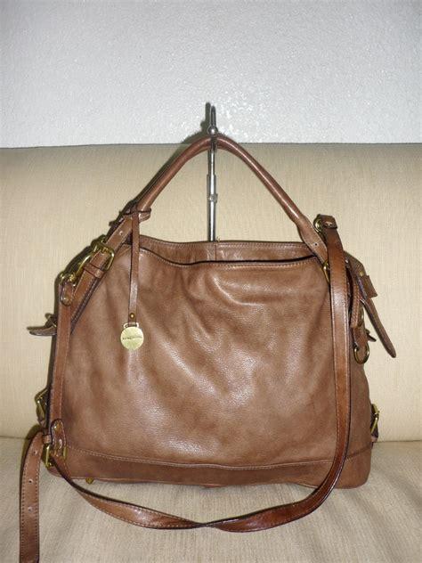 yus branded bag authentic rabeanco brownleather handbag